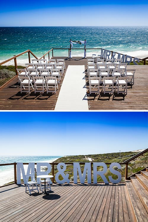 Beach Wedding - Jindalee Beach Deck, Perth WA