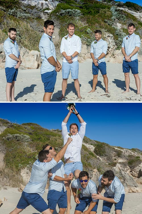 Beach Wedding | Groomsmen
