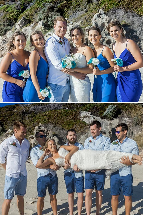 Beach Wedding | Amanda & Gaz | The Bridal Party