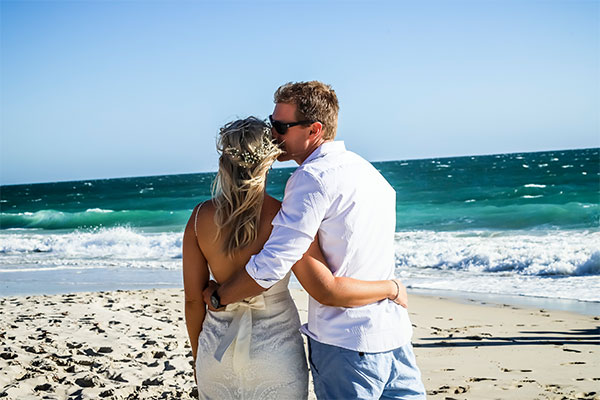 Amanda & Gaz's Beach Wedding | Peter Trend Bridal Blog