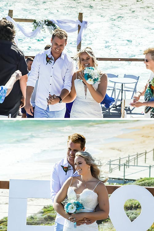 Husband & Wife | Beach Wedding | Amanda & Gaz