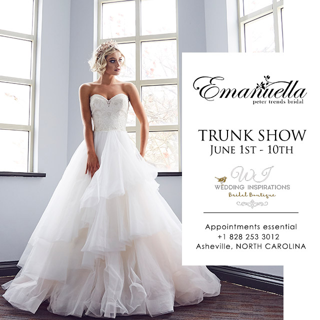 Wedding Inspirations Trunk Show - see the Emanuella collection from Australia