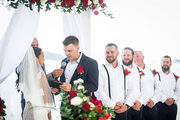 Tom says his vows