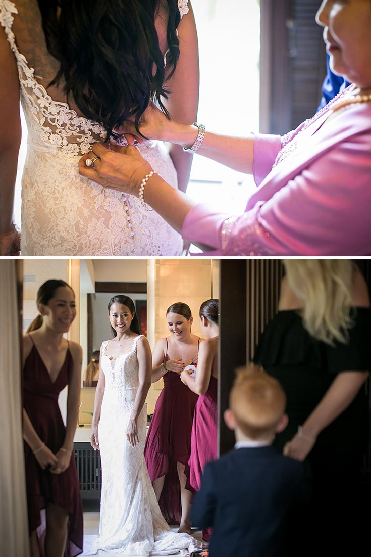 The finishing touches for the bride, Nat.