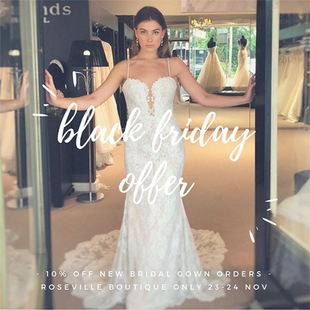 Black Friday Bridal Sale Sydney
