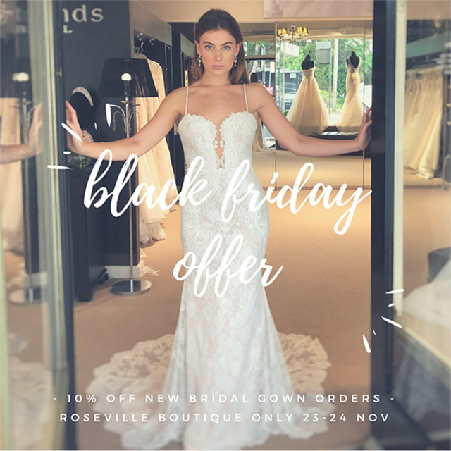 Black Friday Bridal Sale Sydney