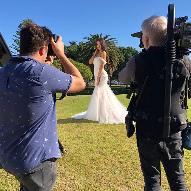 behind the scenes bridal
