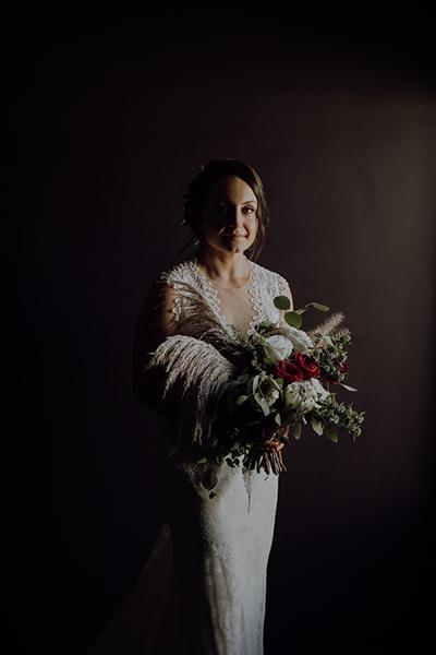 Karis wore the Havana bridal gown