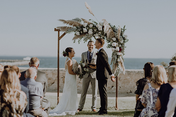 Fremantle Wedding - exchanging vows