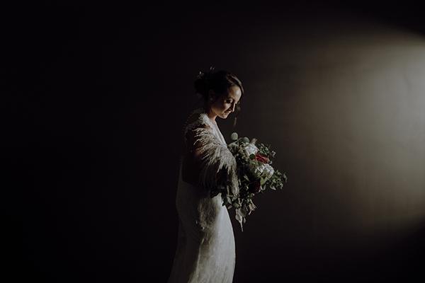 Bride, Karis wore the Havana lace bridal gown