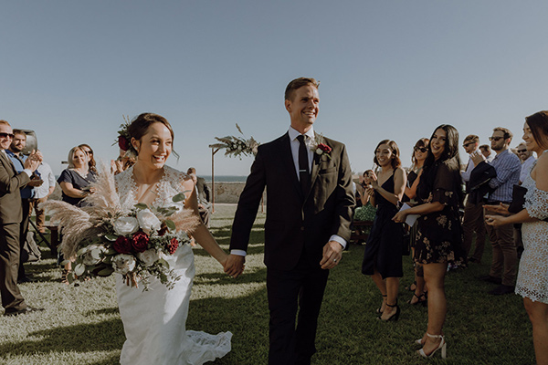 Fremantle Wedding - just married
