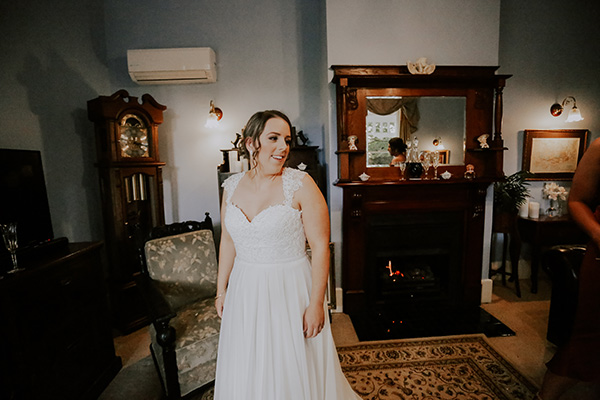 Brianna wore a custom Peter Trends Bridal gown for her wedding