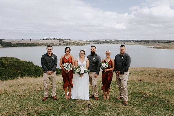 Rustic Country Wedding - the bridal party