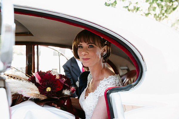 Bride, Monica wore a Peter Trends wedding dress